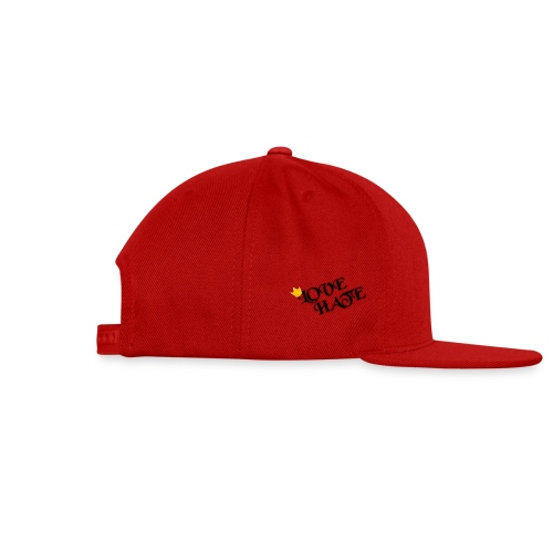 LOVE HATE - Snap-back Baseball Cap