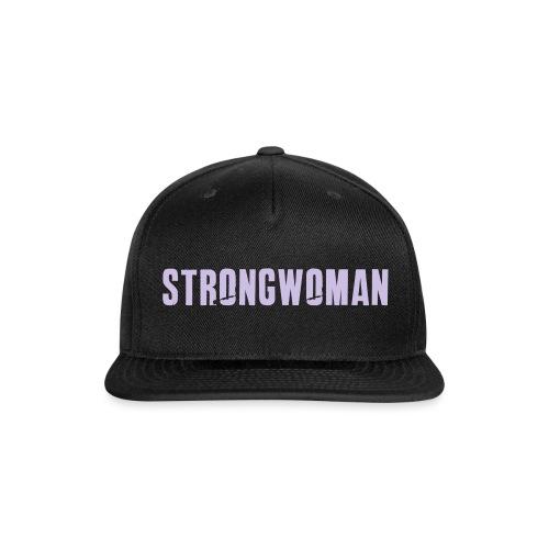 strongwoman horiz - Snap-back Baseball Cap