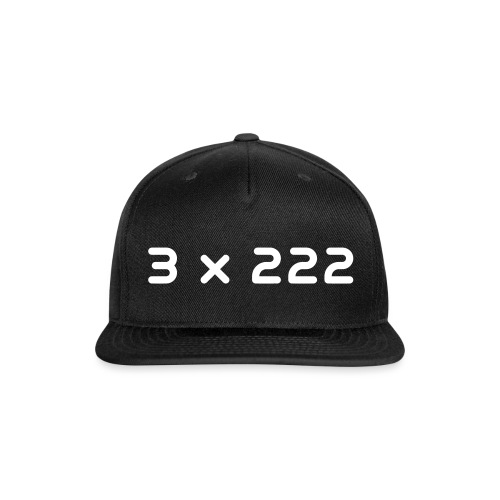 3 x 222 - Snap-back Baseball Cap