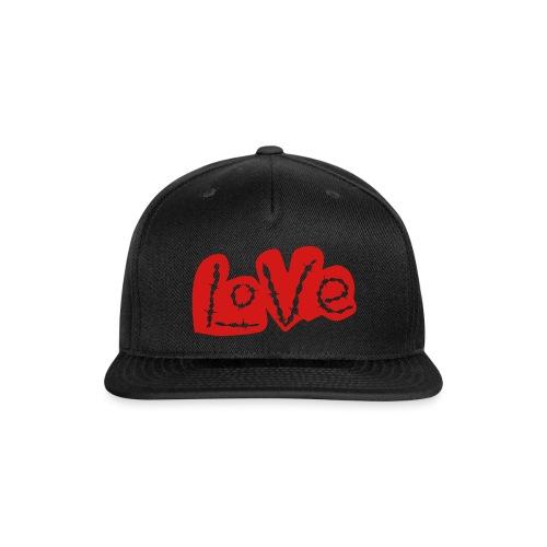 love barbed wire heart - Snapback Baseball Cap
