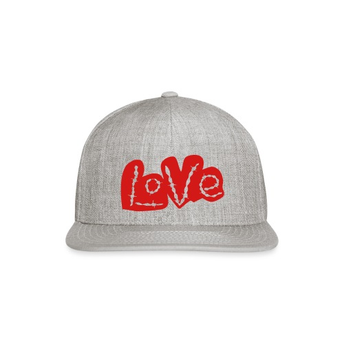 love barbed wire heart - Snap-back Baseball Cap