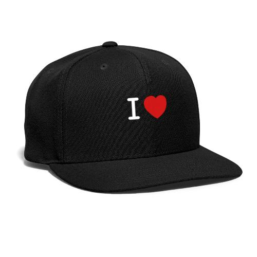 I Love (what you love in here) Insert your text. - Snap-back Baseball Cap