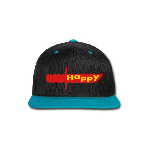 happy knife - Snap-back Baseball Cap