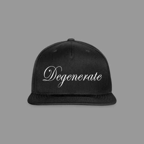 Degenerate - Snap-back Baseball Cap