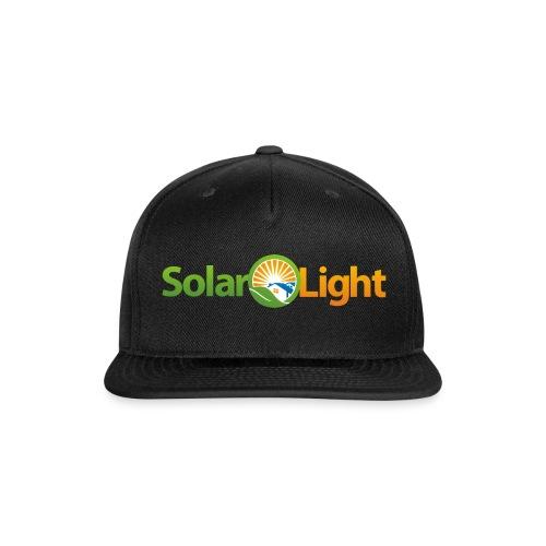 Solar Light Logo only - Snapback Baseball Cap