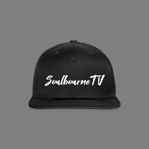 SoulbourneTV - White on Black - Snapback Baseball Cap