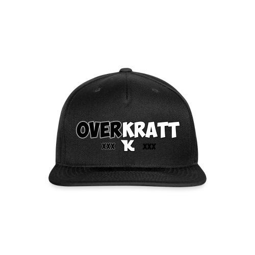 overkratt words and logo - Snap-back Baseball Cap