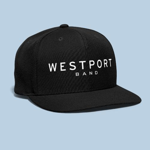 Westport Text White on transparent - Snapback Baseball Cap