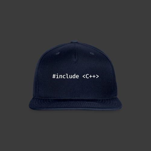 White Include Logo - Snap-back Baseball Cap