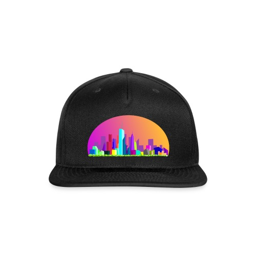 Summer evening city skyline - Snap-back Baseball Cap