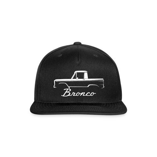 1968 Bronco Half Cab White Line Art - Snap-back Baseball Cap