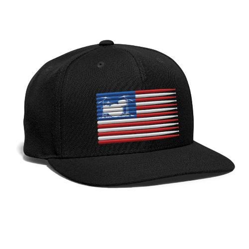 American Drummer Flag with Drum Kit and Sticks - Snap-back Baseball Cap