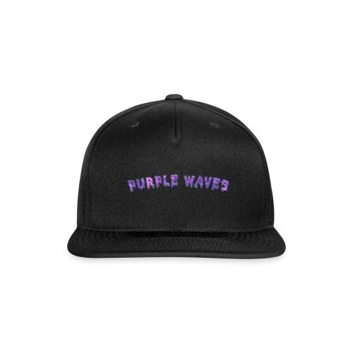 Purple Waves - Snap-back Baseball Cap