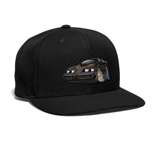 Classic American Black Muscle Car Cartoon - Snap-back Baseball Cap