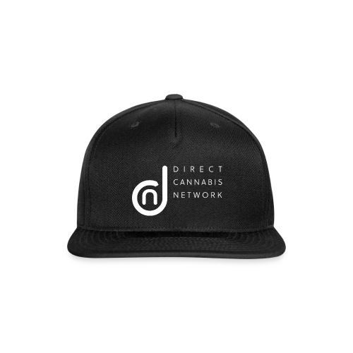 DCN (Direct Cannabis Network-White Logo) - Snap-back Baseball Cap
