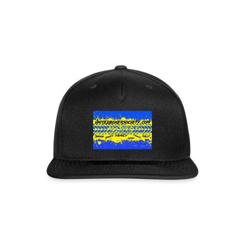 BUMPERSTICKER SPLATTER - Snap-back Baseball Cap