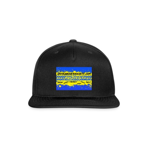 BUMPERSTICKER SPLATTER - Snap-back Baseball Cap