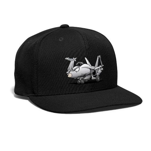 Military Naval Fighter Jet Airplane Cartoon - Snap-back Baseball Cap