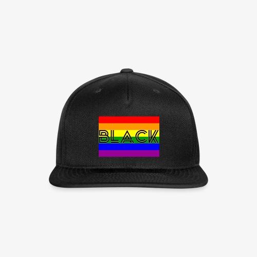 Black LGBTQ - Snap-back Baseball Cap