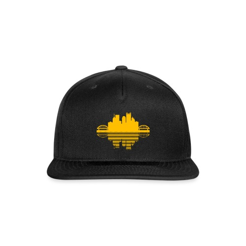 Pittsburgh Skyline Reflection (Gold) - Snap-back Baseball Cap