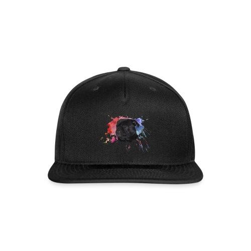 Pug Paint Splatter - Snap-back Baseball Cap