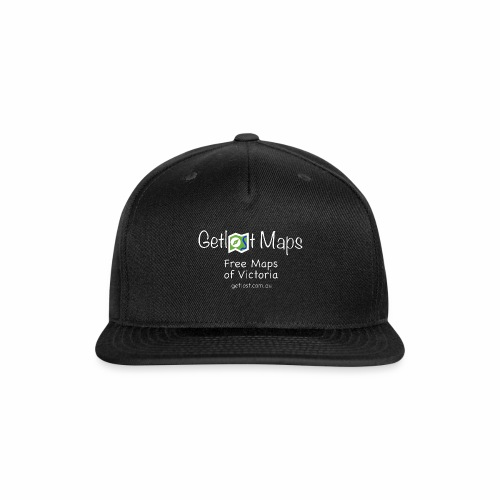 Getlost Maps Full White - Snap-back Baseball Cap