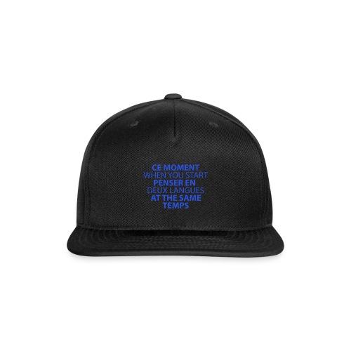 Language geek phrase - Snap-back Baseball Cap