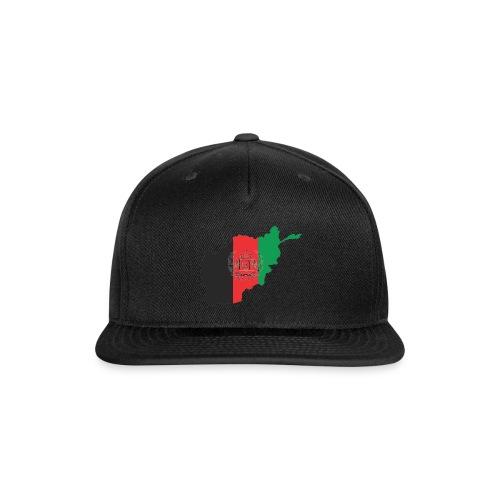 Afghanistan Flag in its Map Shape - Snap-back Baseball Cap