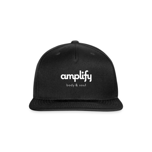 amplify logo // white - Snap-back Baseball Cap
