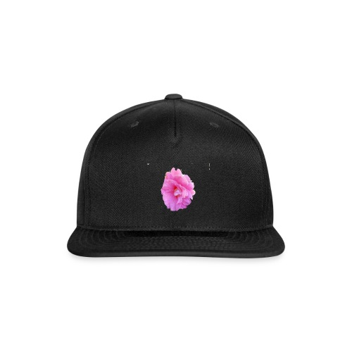 Shiny pink flower - Snap-back Baseball Cap