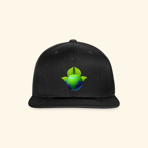 Earth with Leaves - Save the planet - Snap-back Baseball Cap