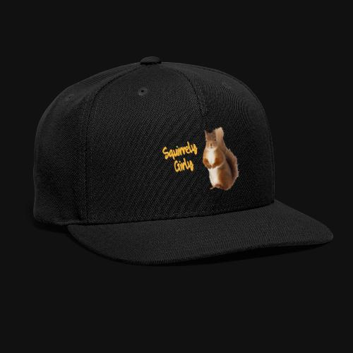 Squirrely Girly (Color) - Snapback Baseball Cap