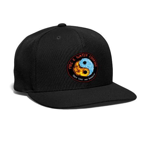 Fire & Water Cooking Full Sized Logo - Snapback Baseball Cap