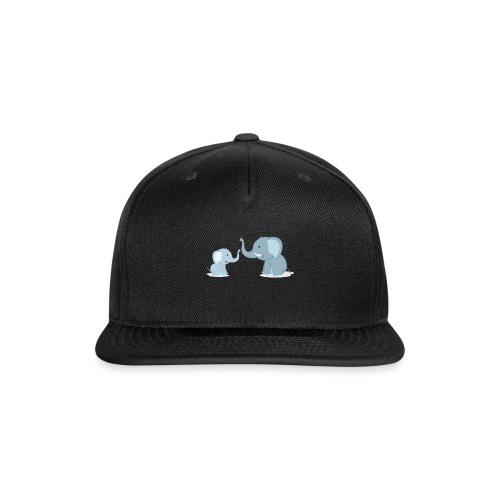Father and Baby Son Elephant - Snapback Baseball Cap