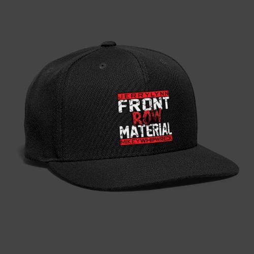 Front Row Material Logo - Snapback Baseball Cap