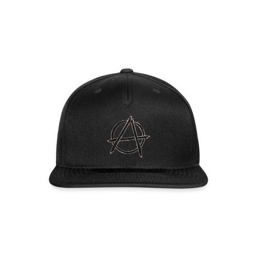 Anarchy in black silver - Snap-back Baseball Cap