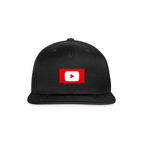 youtube logo - Snap-back Baseball Cap