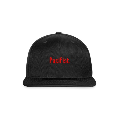 Pacifist T-Shirt Design - Snap-back Baseball Cap