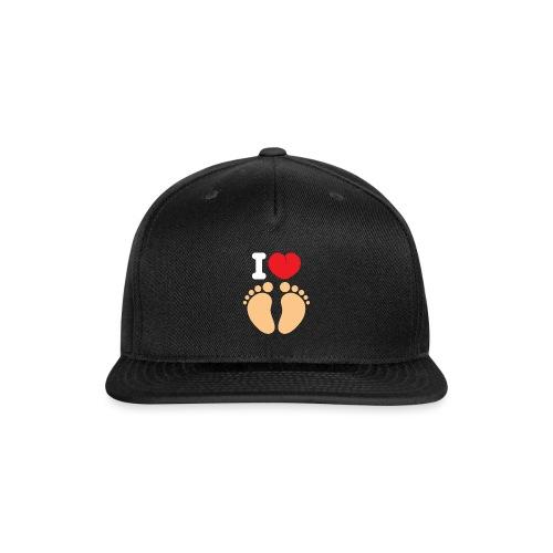 I HEART FEET Men's Organic Tee - Snap-back Baseball Cap