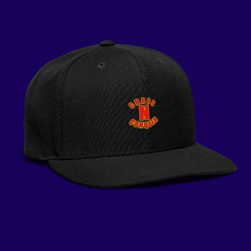 ChaosNConquer Minimalist Logo Print - Snapback Baseball Cap