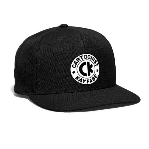 Cartoonist Kayfabe EC logo Black letters on White - Snap-back Baseball Cap
