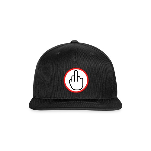Middle Finger in a Red Circle - Snapback Baseball Cap