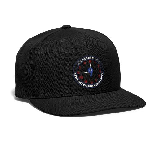 NINE Logo v2 2018 blue Outlines Red Numbers - Snap-back Baseball Cap