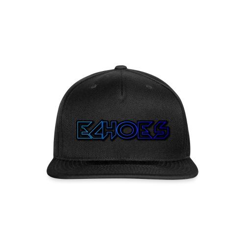 ECHO™Original Blue Logo Baseball Cap Black - Snapback Baseball Cap