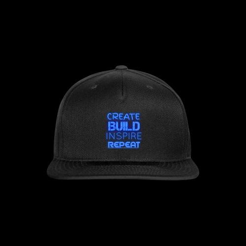 Create, Build, Inspire, Repeat - Snapback Baseball Cap