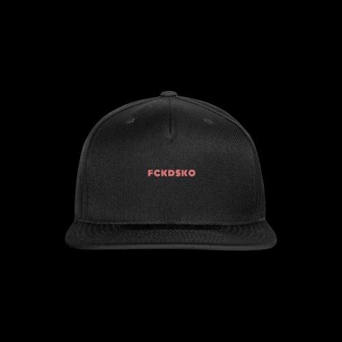 fckdsko logo - Snap-back Baseball Cap