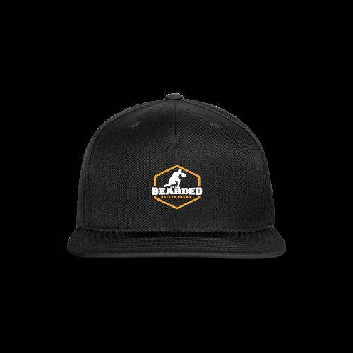 The Bearded Baller Brand White and Gold - Snap-back Baseball Cap