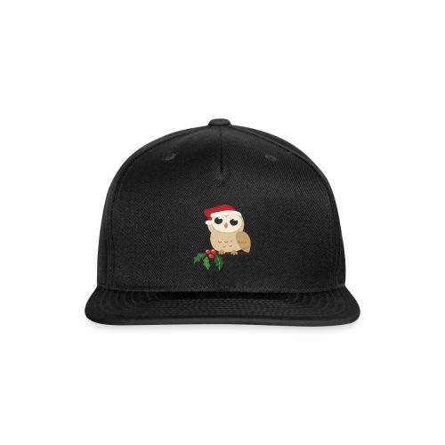 christmas Wild owl - Snap-back Baseball Cap
