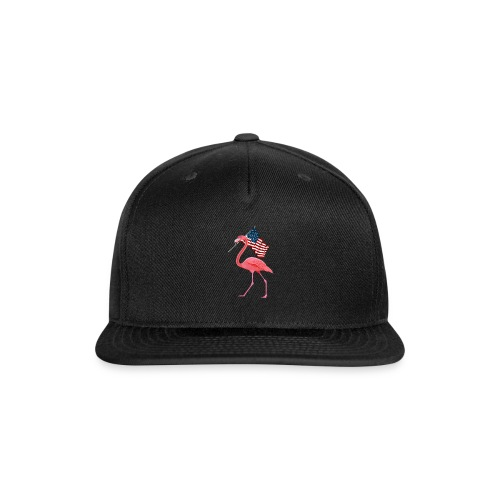 Flamingo 4th of July T-Shirt Patriotic Vintage Fla - Snap-back Baseball Cap