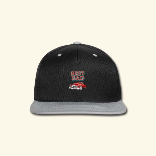 Best Dad Classic Car Design Fathers Day - Snap-back Baseball Cap